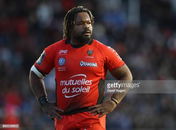 Mathieu Bastareaud of Toulon looks on during the European Rugby Champions Cup match between RC Toulon and Bath Rugby at Stade Felix Mayol on December...
