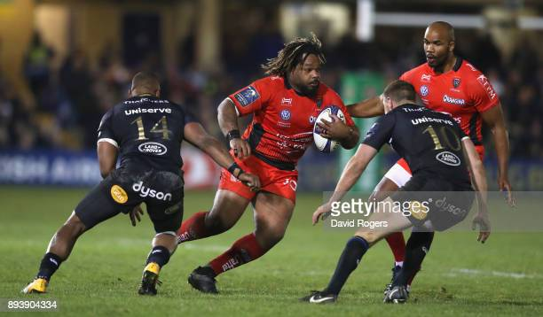 Mathieu Bastareud of Toulon charges upfield during the European Rugby Champions Cup match between Bath Rugby and RC Toulon at the Recreation Ground...