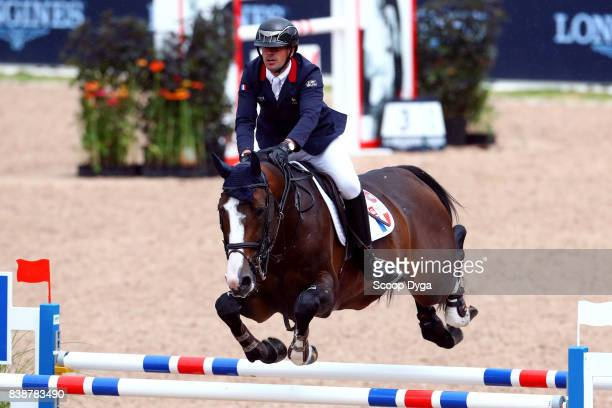 Mathieu Billot riding Shiva d'Amaury during Nations Cup First Round of the Equestrian European Championships on August 24 2017 in Gothenburg Sweden