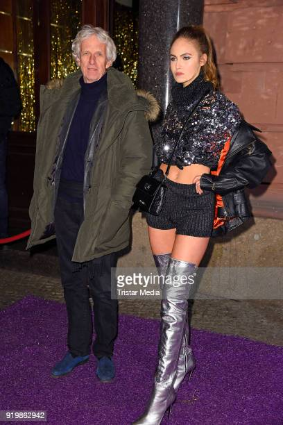 Mathieu Carriere and his daughter Elena Carriere attend the PLACE TO B Party on February 17 2018 in Berlin Germany