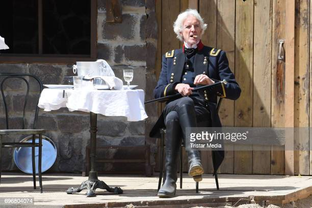 Mathieu Carriere attends the Karl May play 'Old Surehand' press rehearsal on June 16 2017 in Bad Segeberg Germany