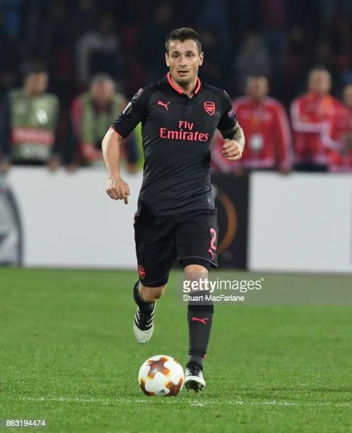Mathieu Debuchy of Arsenal during the UEFA Europa League group H match between Crvena Zvezda and Arsenal FC at Rajko Mitic Stadium on October 19,...