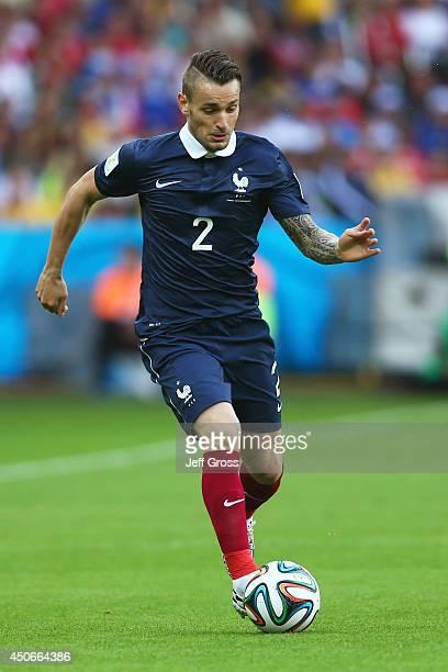 Mathieu Debuchy of France controls the ball during the 2014 FIFA World Cup Brazil Group E match between France and Honduras at Estadio Beira-Rio on...
