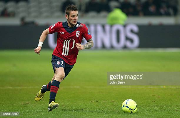 Mathieu Debuchy of LOSC in action during the French Ligue 1 match between Lille OSC and Toulouse FC at the Grand Stade Lille Metropole on December...