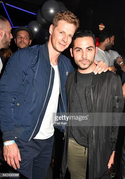 Mathieu Delormeau and Alban Bartoli attend Eleven Paris Menswear SS2017 Fashion Week Party at Badaboum Club on June 22 2016 in Paris France