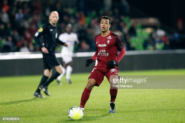 Mathieu Dossevi of Metz during the Ligue 1 match between Metz and Amiens SC at on November 25 2017 in Metz