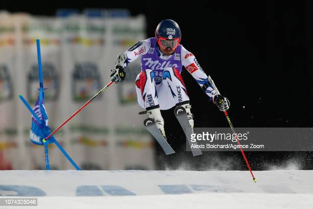 Mathieu Faivre of France competes during the Audi FIS Alpine Ski World Cup Men's Parallel Giant Slalom on December 17 2018 in Alta Badia Italy