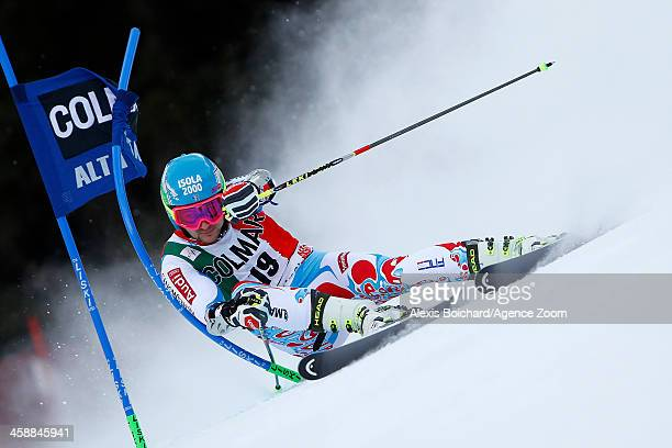 Mathieu Faivre of France competes during the Audi FIS Alpine Ski World Cup Men's Giant Slalom on December 22 2013 in Alta Badia Italy