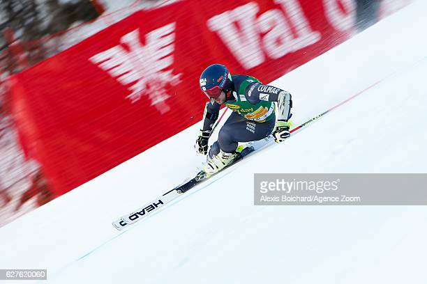 Mathieu Faivre of France competes during the Audi FIS Alpine Ski World Cup Men's Giant Slalom on December 4 2016 in Val d'Isere France