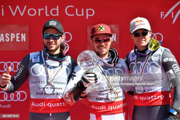Mathieu Faivre of France takes 2nd place in the overall standings Marcel Hirscher of Austria wins the globe in the overall standings Alexis...