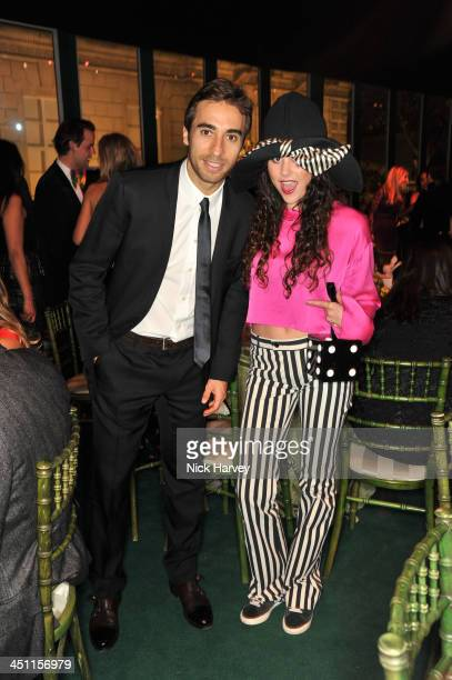 Mathieu Flamini and Eliza Doolittle attend the Reuben Foundation Adventure in Wonderland party in aid of Great Ormond Street Hospital on November 21...