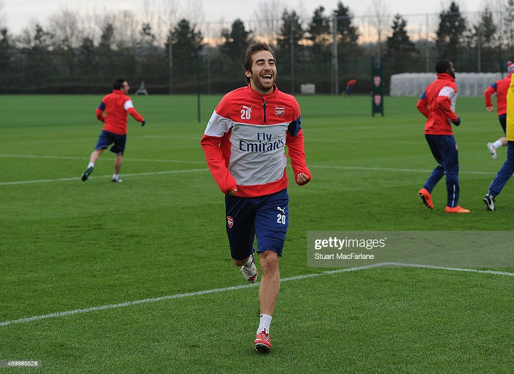 Mathieu Flamini of Arsenal during a training session at London Colney on December 5, 2014 in St Albans, England.