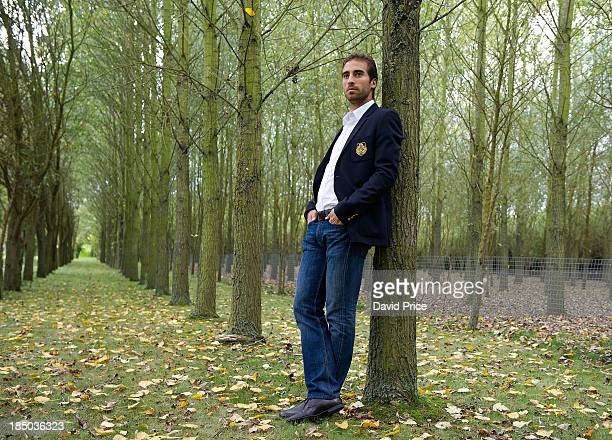 PPLIES Mathieu Flamini of Arsenal poses during a photoshoot for Arsenal Magazine at the Arsenal Training Ground London Colney on October 8 in St...