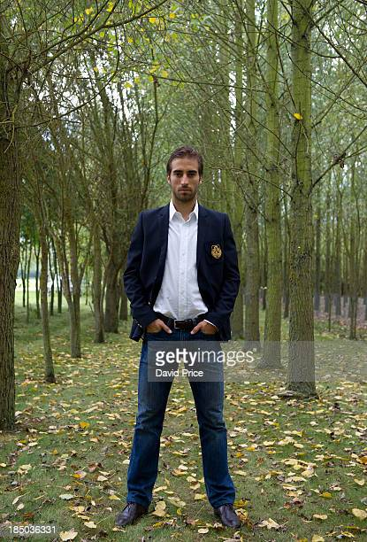 Mathieu Flamini of Arsenal poses during a photoshoot for Arsenal Magazine at the Arsenal Training Ground London Colney on October 8 in St Albans...