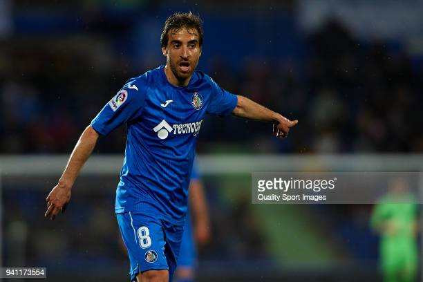 Mathieu Flamini of Getafe reacts during the La Liga match between Getafe and Real Betis at Coliseum Alfonso Perez on April 2 2018 in Getafe Spain