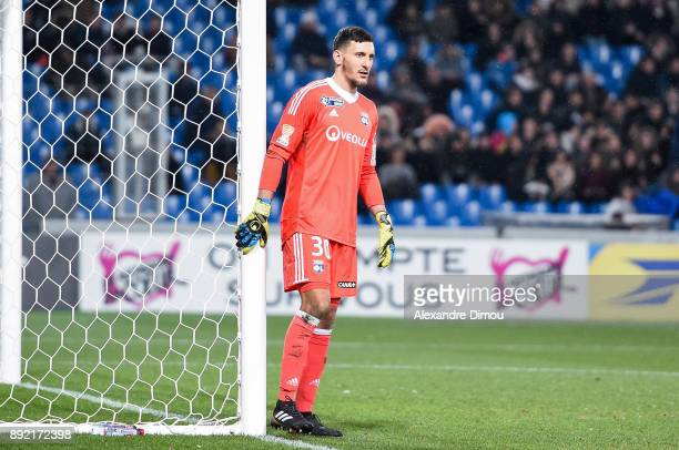 Mathieu Gorgelin of Lyon during the french League Cup match Round of 16 between Montpellier and Lyon on December 13 2017 in Montpellier France