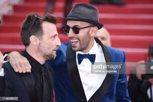 Mathieu Kassovitz and attends the screening of Les Miserables during the 72nd annual Cannes Film Festival on May 15 2019 in Cannes France