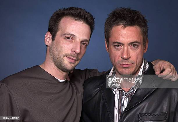 Mathieu Kassovitz and Robert Downey Jr during Movieline's Hollywood Life's 3rd Annual Breakthrough of the Year Awards Portraits at The Highlands in...
