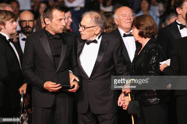 "Mathieu Kassovitz, Jean-Louis Trintignant and Marianne Hoepfner attend the ""Happy End"" screening during the 70th annual Cannes Film Festival at..."