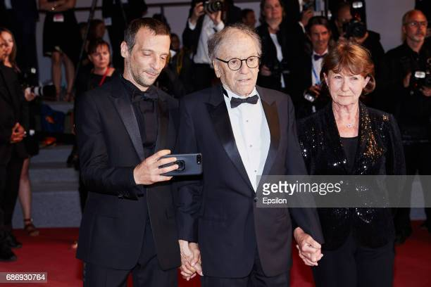 "Mathieu Kassovitz, Jean-Louis Trintignant, Marianne Hoepfner attend the ""Happy End"" screening during the 70th annual Cannes Film Festival at Palais..."