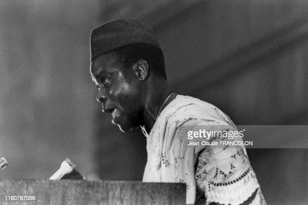 Mathieu Kérékou, président du Bénin, lors du 15ème sommet de l'Organisation de l'Unité Africaine à Khartoum le 18 juillet 1978, Soudan.