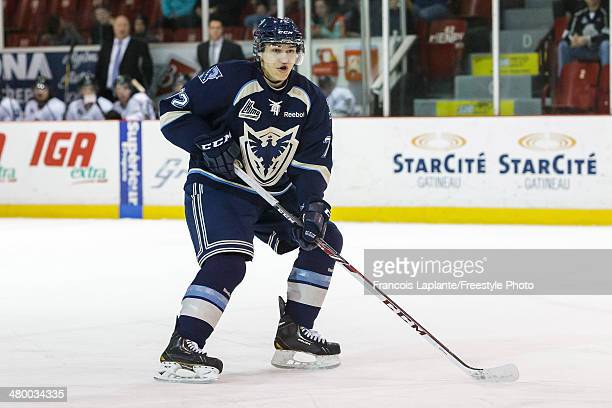 Mathieu Leclerc of the Sherbrooke Phoenix skates against the Gatineau Olympiques during the QMJHL game on March 14 2014 at Robert Guertin Arena in...