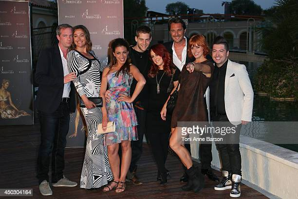 Mathieu Legros Sandrine Quetier Vincent Cerutti Fauve Hautot and Chris Marques attend Gala at the Monte Carlo Beach Hotel on June 8 2014 in...