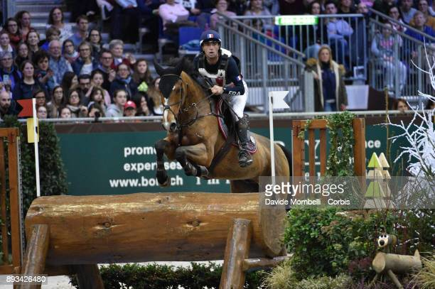 Mathieu LEMOINE of France riding Roscanvel Champeix during the Cross Indoor sponsored by Tribune de Genève Rolex Grand Slam Geneva 2017
