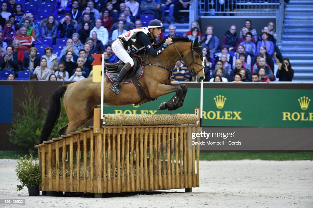 Mathieu LEMOINE, of France, riding Roscanvel Champeix, during the Cross Indoor sponsored by Tribune de Genève , Rolex Grand Slam Geneva 2017