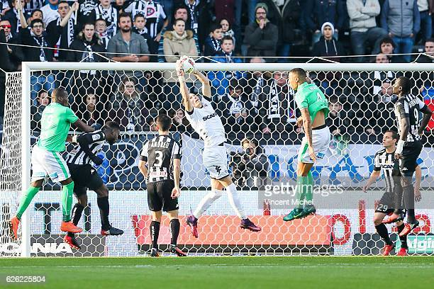 Mathieu Michel of Angers during the French Ligue 1 match between Angers and Saint Etienne on November 27 2016 in Angers France