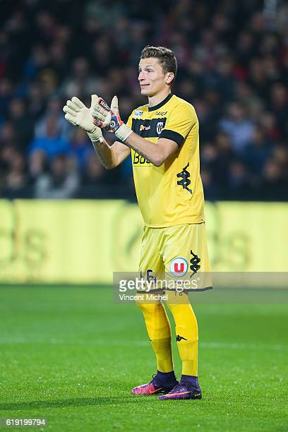 Mathieu Michel of Angers during the Ligue 1 match between Guingamp and Angers at Stade du Roudourou on October 29 2016 in Guingamp France