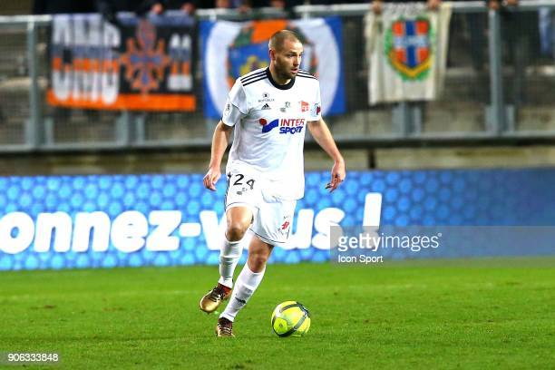 Mathieu of Amiens during the Ligue 1 match between Amiens SC and Montpellier Herault SC at Stade de la Licorne on January 17 2018 in Amiens