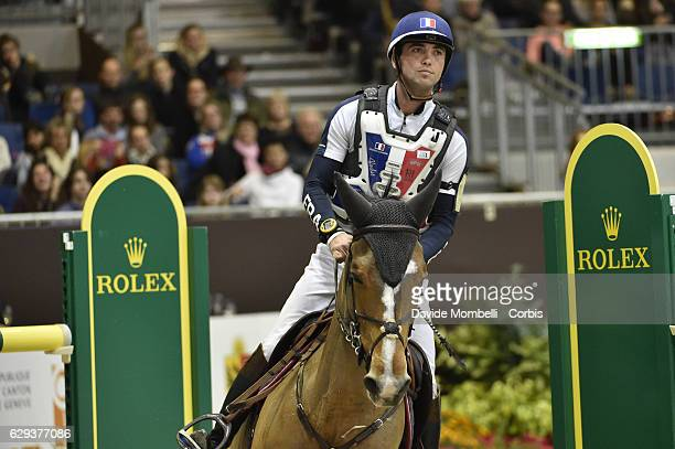 Mathieu of France riding Roscanvel Champeix during indoor Cross Country Competition eventing Rolex Grand Slam 56th EDITION CHI Geneve PALEXPO GENEVA...
