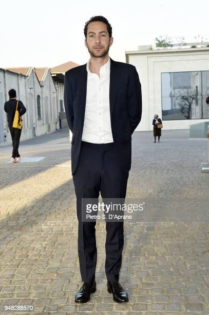 Mathieu Paris attends Private Event On The Occasion Of The Opening Of Torre at Fondazione Prada on April 18 2018 in Milan Italy