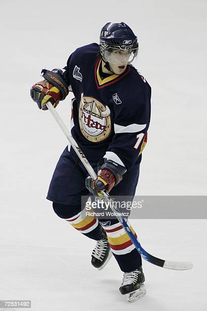Mathieu Perreault of the Acadie-Bathurst Titans skates during the game against the Quebec City Remparts at Colisee Pepsi on November 8, 2006 in...