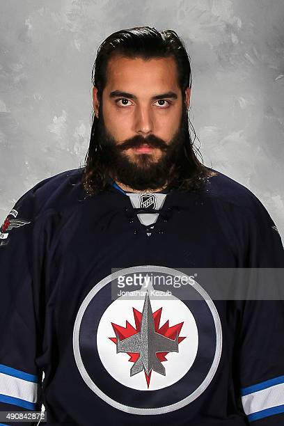 Mathieu Perreault of the Winnipeg Jets poses for his official headshot for the 20152016 season on September 17 2015 at the MTS Centre in Winnipeg...