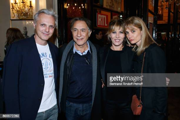 MAthieu Petit Richard Berry Mathilde Seigner and Pascale Louange attend the Ramses II Theater Play at Theatre des Bouffes Parisiens on October 23...