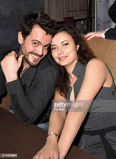 Mathieu Saby and Anais Baydemir attend the 'MGeorges Restaurant' Opening Party Paris Fashion Week Womenswear Fall/Winter 2016/2017 on March 7 2016 in...
