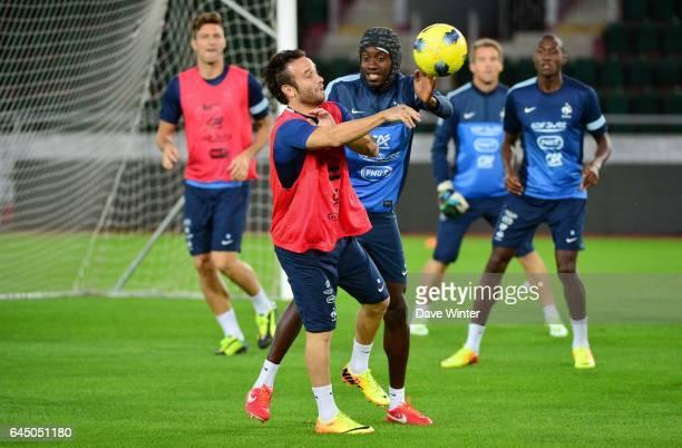 Mathieu VALBUENA / Blaise MATUIDI Football Entrainement France avant le match contre la GeorgieTbilissi Photo Dave Winter / Icon Sport