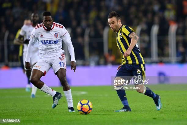 Mathieu Valbuena of Fenerbahce during the Turkish Super lig match between Fenerbahce v Karabukspor at the Sukru Saracoglustadion on December 18 2017...