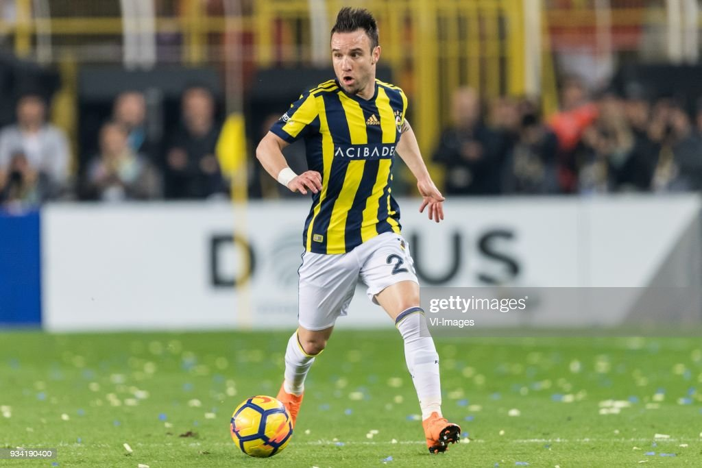 Mathieu Valbuena of Fenerbahce SK during the Turkish Spor Toto Super Lig match Fenerbahce AS and Galatasaray AS at the Sukru Saracoglu Stadium on March 17, 2018 in Istanbul, Turkey