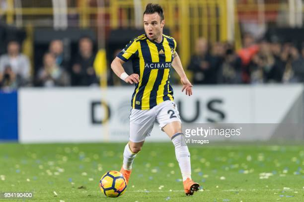 Mathieu Valbuena of Fenerbahce SK during the Turkish Spor Toto Super Lig match Fenerbahce AS and Galatasaray AS at the Sukru Saracoglu Stadium on...