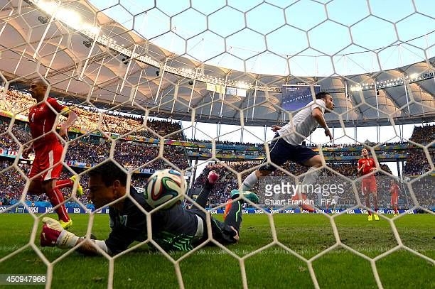 Mathieu Valbuena of France scores his team's third goal past Diego Benaglio of Switzerland during the 2014 FIFA World Cup Brazil Group E match...