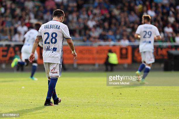 Mathieu Valbuena of Lyon during the Ligue 1 match between FC Lorient and Olympique Lyonnais at Stade du Moustoir on September 24 2016 in Lorient...