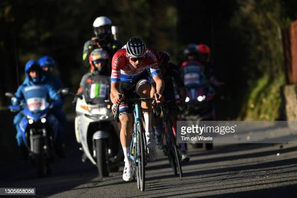 Mathieu Van Der Poel of Netherlands and Team Alpecin-Fenix during the Eroica - 15th Strade Bianche 2021, Men's Elite a 184km race from Siena to Siena...