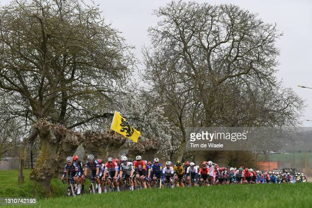 Mathieu Van Der Poel of Netherlands and Team Alpecin-Fenix, Victor Campenaerts of Belgium and Team Qhubeka Assos, Julian Alaphilippe of France and...