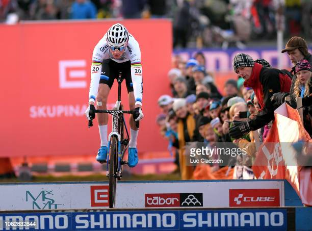 Mathieu Van Der Poel of The Netherlands and Team Corendon - Circus / during the 22nd Tabor World Cup, on November 17, 2018 in Tabor, Czech Republic.
