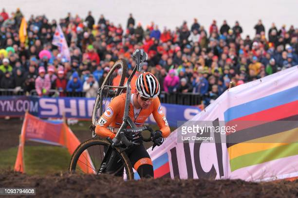 Mathieu Van Der Poel of The Netherlands and Team The Netherlands / Fans / Public / Sea / during the 70th Cyclo-cross World Championships Bogense...