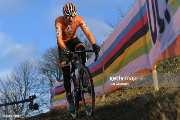Mathieu Van Der Poel of The Netherlands and Team The Netherlands / during the 70th Cyclo-cross World Championships Bogense 2019, Men Elite / Cross...