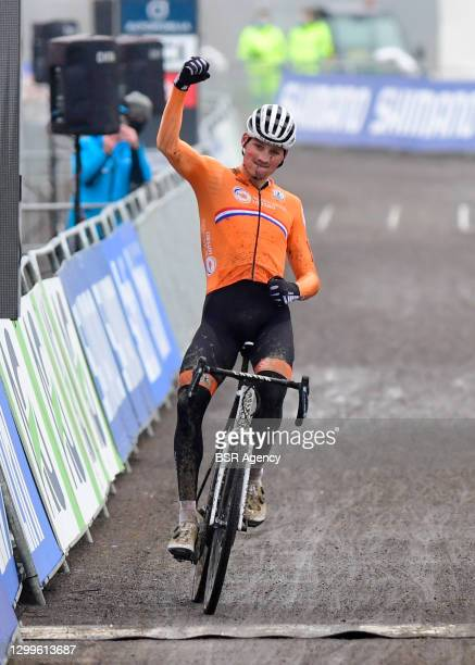 Mathieu van der Poel of The Netherlands during the UCI Cyclo-cross World Championships - Men Elite on January 31, 2021 in Oostende, Belgium